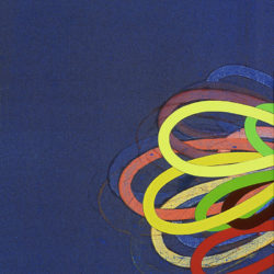 yellow on blue loop