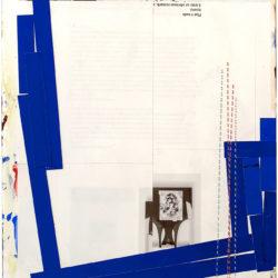 webaDanDevening,Winter Frame(3), acrylic, collage, thread on Yupo paper, 34 x 24.5cm